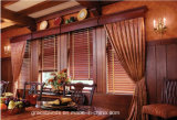 50mm Stained Color Basswood Slats UVSurface Coating hochrangiges Metal Head Rail Wood Blinds