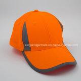 Sombrero anaranjado de neón 100% del compartimiento del poliester con la tubería reflexiva