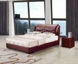 Просто самомоднейшая кровать кожи мебели спальни типа