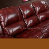 Sofá secional do couro genuíno da alta qualidade