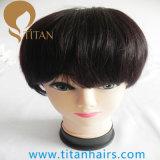 Moda peruca de cabelo humano remy com base de renda completa