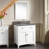 Fed-347A 30 Inch-neue Auslegung-moderne festes Holz-weiße Hotel-Badezimmer-Schrank-Badezimmer-Eitelkeiten