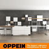 Шкафы лака самомоднейшей деревянной мебели кухни белые с островом (OP16-L21)