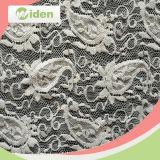 Les accessoires vendent le tissu floral intense en nylon de lacet de maille de configurations