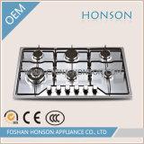 Gas Cooktop della fresa del gas dell'acciaio inossidabile dei bruciatori degli apparecchi di cucina 6