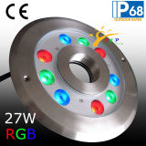 27W Tricolor RGB-LED-Dry-Brunnen-Licht, RGB-LED-Brunnen-Ring