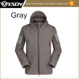 Tree Camo Impermeável Respirável Outdoor Sharkskin Soft Shell Jacket Hoodie