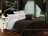 100% algodón jacquard Sistemas del lecho del hotel