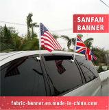 Rotolare in su la bandierina promozionale esterna materiale dell'automobile della flessione della bandiera della visualizzazione del segno