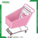 Carretilla de las compras del supermercado del metal plástico del regalo mini