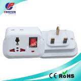 enchufe de adaptador de la CA de la potencia de 10A 250V con el interruptor Reino Unido