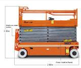 Het elektrische Platform van het Werk van de Lift van de Schaar Gemotoriseerde Lucht (de motor van de aandrijving van gelijkstroom)
