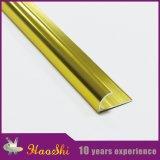 Ajuste de aluminio de la baldosa cerámica del perfil de la protuberancia de oro ligera