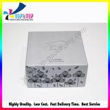 Серебряная коробка подарка бумаги карточки для косметик