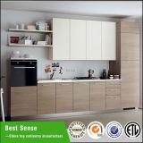 Mobília de madeira da cozinha do MFC da estratificação do revestimento da melamina da grão