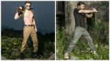 2 pantaloni casuali ispessiti cotone della cosa repellente di acqua degli uomini esterni di colori