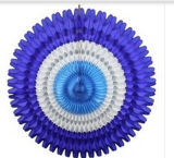 Nuevo diseño 2015 decoración de Turquía del ventilador del papel de tejido del panal de 21 pulgadas