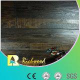 plancher stratifié insonorisant d'hickory gratté par main de 12.3mm