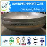 大口径のエンドキャップのステンレス鋼304の皿に盛られたヘッド