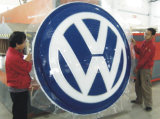 Thermoform 주문 LED 차 상표는 차 로고를 서명한다