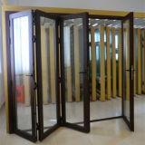 داخليّة خشبيّة إنجاز ألومنيوم يطوي أبواب زجاجيّة