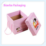 Cotton Handle를 가진 분홍색 Color Corrugated Gift Folding Paper Gift Box