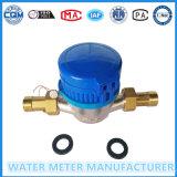 Счетчик воды одиночного утюга счетчика воды двигателя влажный