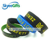 Wristband ou braceletes enchidos Debossed do silicone da cor do presente da promoção