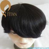 Estilo natural Remy Sistema de cabello humano 100% para los hombres