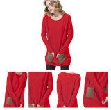 Helle rote Farben-Männer strickten Kaschmir-Strickjacke