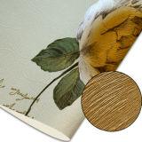 Papel de parede profundamente gravado floral do PVC do teste padrão