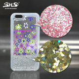 Caixa do telefone móvel de Shs para o iPhone 6s com Quicksand do líquido do Glitter