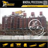 Proceso mineral equipos de beneficio gravedad Recuperación de Oro Espiral separador de Oro