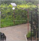 Lumière solaire imperméable à l'eau de bille de jardin de l'homologation DEL de la CE