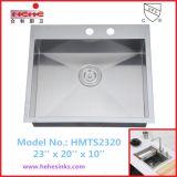 CupcのTopmountのステンレス鋼のハンドメイドの流しは承認したり、手作りする流し、台所の流し(HMTS2320)を
