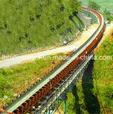 De algemene Lay-out van het Gebogen Systeem Over lange afstand van de Transportband van de Riem