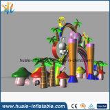Grille gonflable de voûte de gosses de parc d'attractions de forêt d'amusement pour la publicité