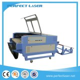 Máquina de estaca de couro do couro do CNC/laser das calças de brim