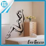 Изготовленный на заказ водоустойчивая сексуальная красавица в стикере стены мастерской спальни