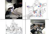 Fanuc 관제사를 가진 BS203 CNC 선반 기계 기울기 침대 프레임