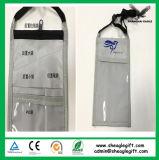 Carteira de pescoço triplo com dois compartimentos e bolso transparente
