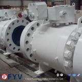 Válvula de control montada muñón del petróleo de gas de la vávula de bola de 2 pedazos