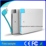 berge de 2015credit Card Size Power avec les berges responsables Made de Built Cable Slim Power en Chine