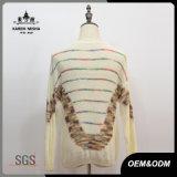 Chandail rayé de pull de mode de laines de femmes