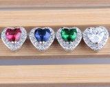 Brincos cúbicos da prata do Zircon do diamante do Zirconia da CZ