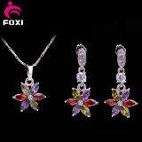 De kleurrijke Reeksen van de Juwelen van Zircon van het Ontwerp van de Bloem voor Volwassenen dragen dagelijks