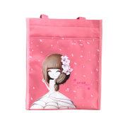 紫色の女の子のロゴの印刷のナイロン記事袋