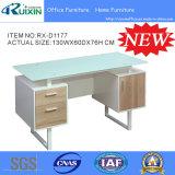 내각 (RX-D1177)를 가진 새로 디자인 유리제 컴퓨터 책상