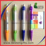 Estrarre la penna di sfera ritrattabile della bandiera con la penna promozionale della bandiera della penna del messaggio