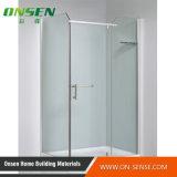 Recinto de aluminio simple de la ducha con el vidrio transparente